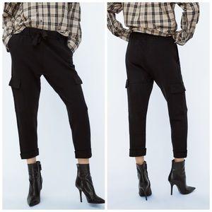 Zara Black Joggers With Pockets